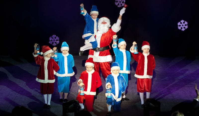 Танец Санта-Клаусов